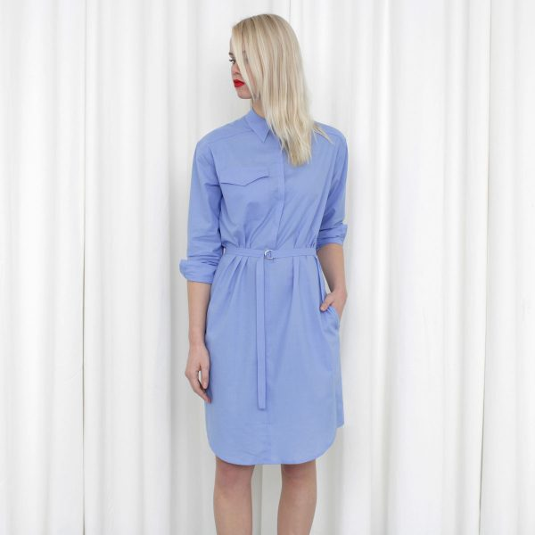 shirt-dress-lavendelblauw-joline-jolink