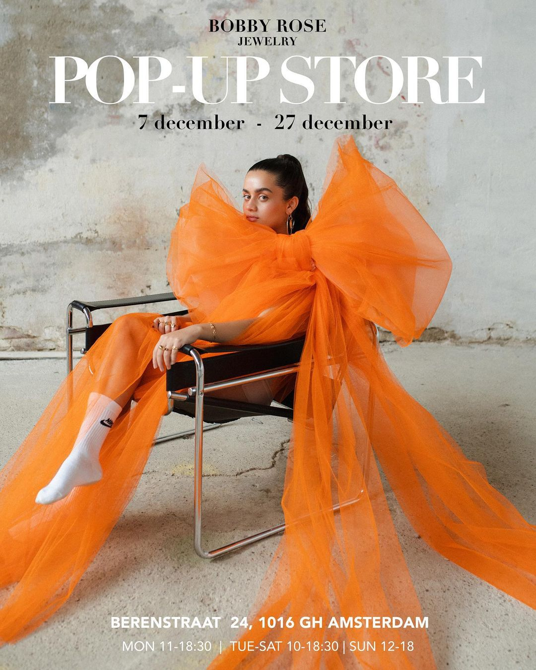 Bobby Rose opent pop-up shop in Amsterdam